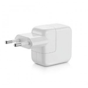 Apple 12W USB Power Adapter - оригинално захранване за iPad, iPhone, iPod (EU стандарт) (retail)