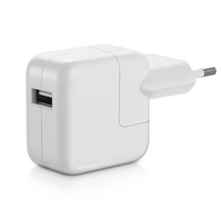 Apple 12W USB Power Adapter - оригинално захранване за iPad, iPhone, iPod (EU стандарт) (bulk)