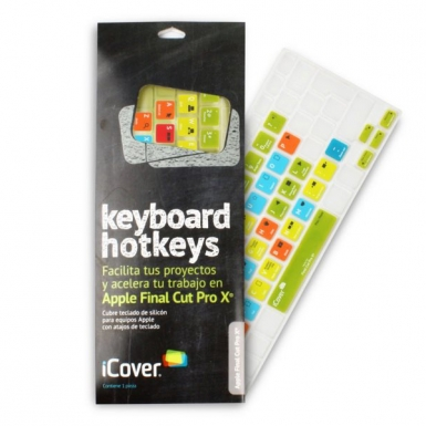 iCover Keyboard Hotkeys Apple Final Cut Pro X - силиконов протектор за Apple и MacBook клавиатури
