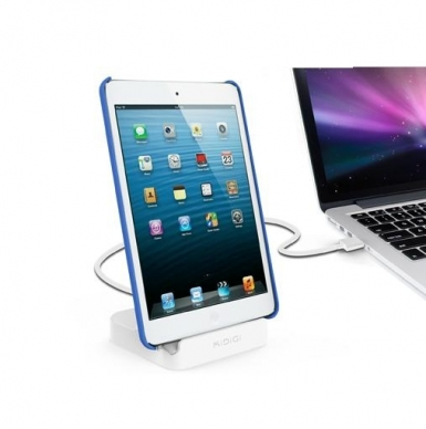 KiDiGi Case Compatible Sync & Charge Dock - док станция (зареждане+синхронизация) за iPad, iPhone и iPod с Lightning (бял)