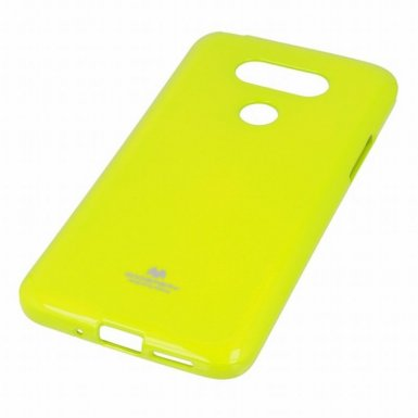 Mercury Goospery Jelly Case - силиконов (TPU) калъф за LG G5 (лайм)