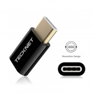 TeckNet TF001 USB-C Male to MicroUSB Female Adapter - 2 броя microUSB адаптер за MacBook и устройства с USB-C порт