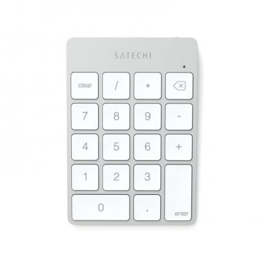 Satechi Slim Aluminum Wireless Keypad - безжична Bluetooth клавиатура с 18 бутона за MacBook (сребриста)