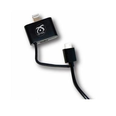Symtek TekPower MFI Lightning and MicroUSB Cable - сертифициран кабел 2в1 за Apple и MicroUSB устройства