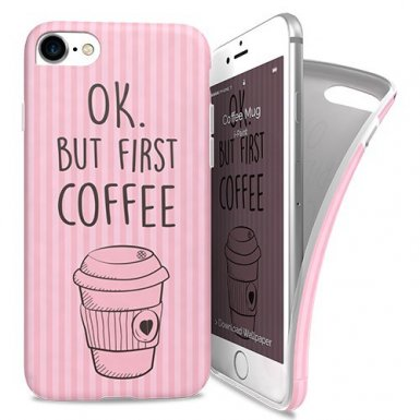 iPaint Coffe Mug Soft Case - силиконов (TPU) калъф за iPhone 8, iPhone 7