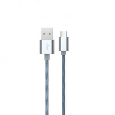 Devia Gracious USB-C to USB Cable - USB-C кабел за MacBook 12 и устройства с USB-C порт (150 см) (сив)
