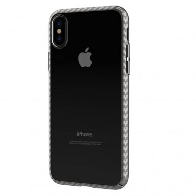 Comma Legende Case - поликарбонатов кейс за iPhone XS, iPhone X (прозрачен-сребрист)