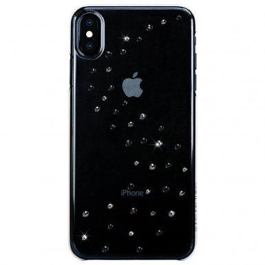 Bling My Thing Milky Way Crystal Starry Night Swarovski - поликарбонатов кейс с кристали Сваровски за iPhone XS Max (прозрачен)