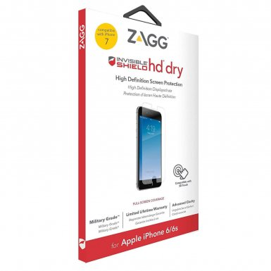 ZAGG InvisibleShield HD Clarity Screen Protector - здраво защитно покритие за дисплея за iPhone 8, iPhone 7, iPhone 6/6S