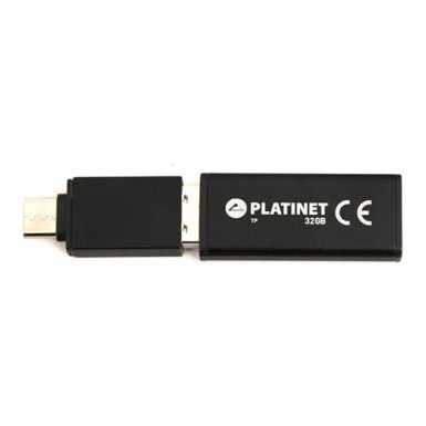 Platinet Pendrive USB 2.0 X-Depo 32GB + USB-C Adapter - флаш памет 32GB с USB-C адаптер (черен)