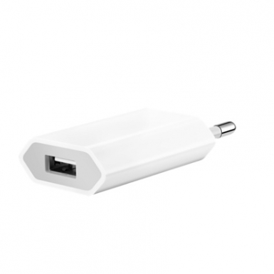 Apple USB Power Adapter 5W - оригиналнo захранване с USB изход за ел. мрежа за iPhone и iPod (bulk package)