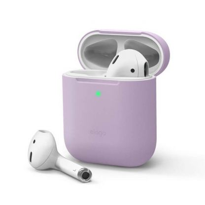 Elago Airpods Skinny Silicone Case - тънък силиконов калъф за Apple Airpods и Apple Airpods 2 with Wireless Charging Case (лилав)