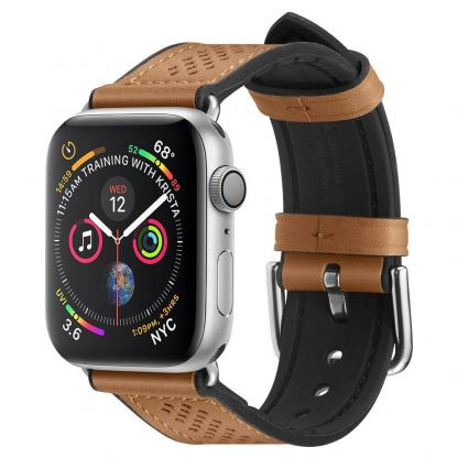 Spigen Retro Fit Band - кожена каишка за Apple Watch 42mm, 44mm (кафяв)