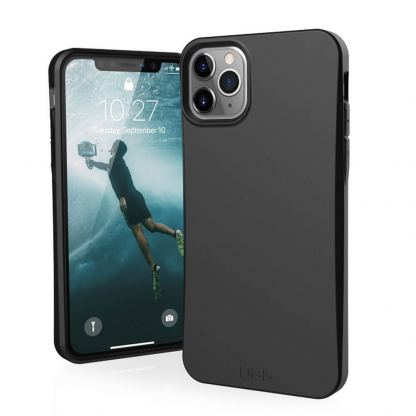 Urban Armor Gear Biodegradeable Outback Case - удароустойчив рециклируем кейс за iPhone 11 Pro (черен)