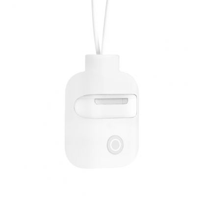 SwitchEasy ColorBuddy AirPods Case - силиконов калъф с лента за врата за Apple Airpods и Apple Airpods 2 with Wireless Charging Case (бял)