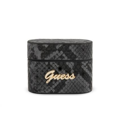 Guess Airpods Pro Python Collection Hard Case - кожен кейс за Apple Airpods Pro (черен)