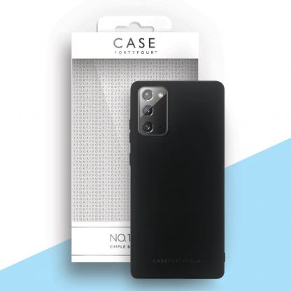 Case FortyFour No.1 Case - силиконов (TPU) калъф за Samsung Galaxy Note 20 (черен)