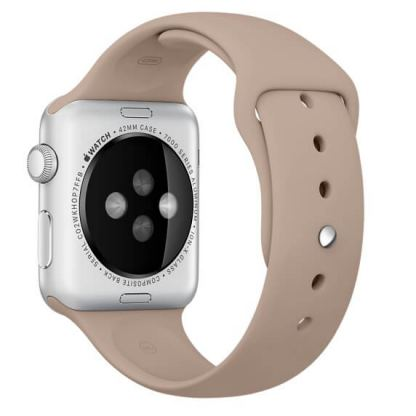 Apple Sport Band Stainless Steel Pin Walnut - оригинална силиконова каишка за Apple Watch 42мм, 44мм (кафяв)