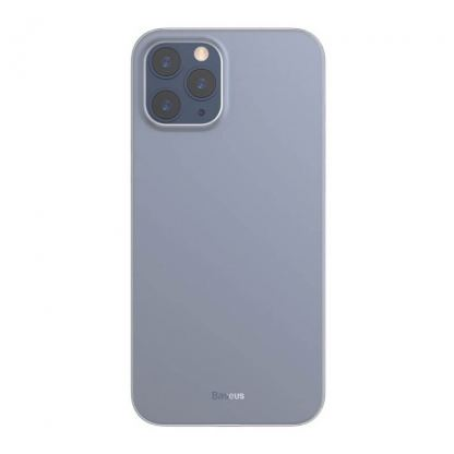 Baseus Wing case - тънък полипропиленов кейс (0.45 mm) за iPhone 12 Pro Max (бял)