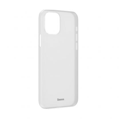 Baseus Wing case - тънък полипропиленов кейс (0.45 mm) за iPhone 12 mini (бял)