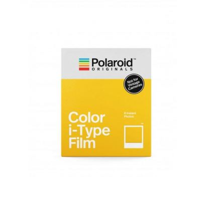 Polaroid Color i-Type Film - фотохартия i-Type за Polaroid OneStep 2, OneStep Plus (8 броя)