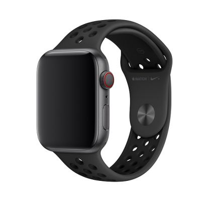 Apple Watch Nike+ Sport Band - оригинална силиконова каишка за Apple Watch 38мм, 40мм (черен)