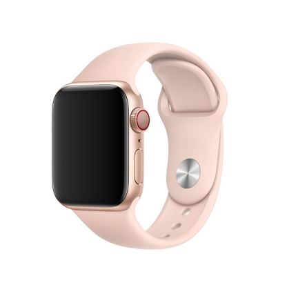 Apple Sport Band S/M & M/L - оригинална силиконова каишка за Apple Watch 42мм, 44мм (розов пясък) (retail)