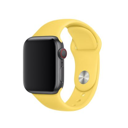 Apple Sport Band S/M & M/L - оригинална силиконова каишка за Apple Watch 38мм, 40мм (жълт) (retail)