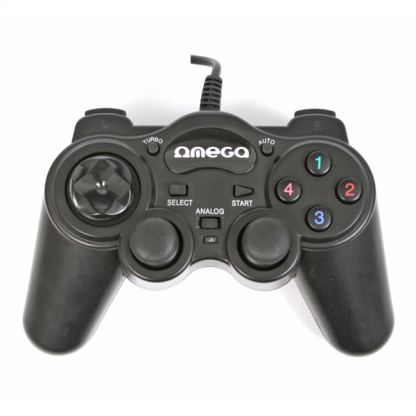 Omega Gamepad Interceptor PC USB - универсален PC контролер (черен)